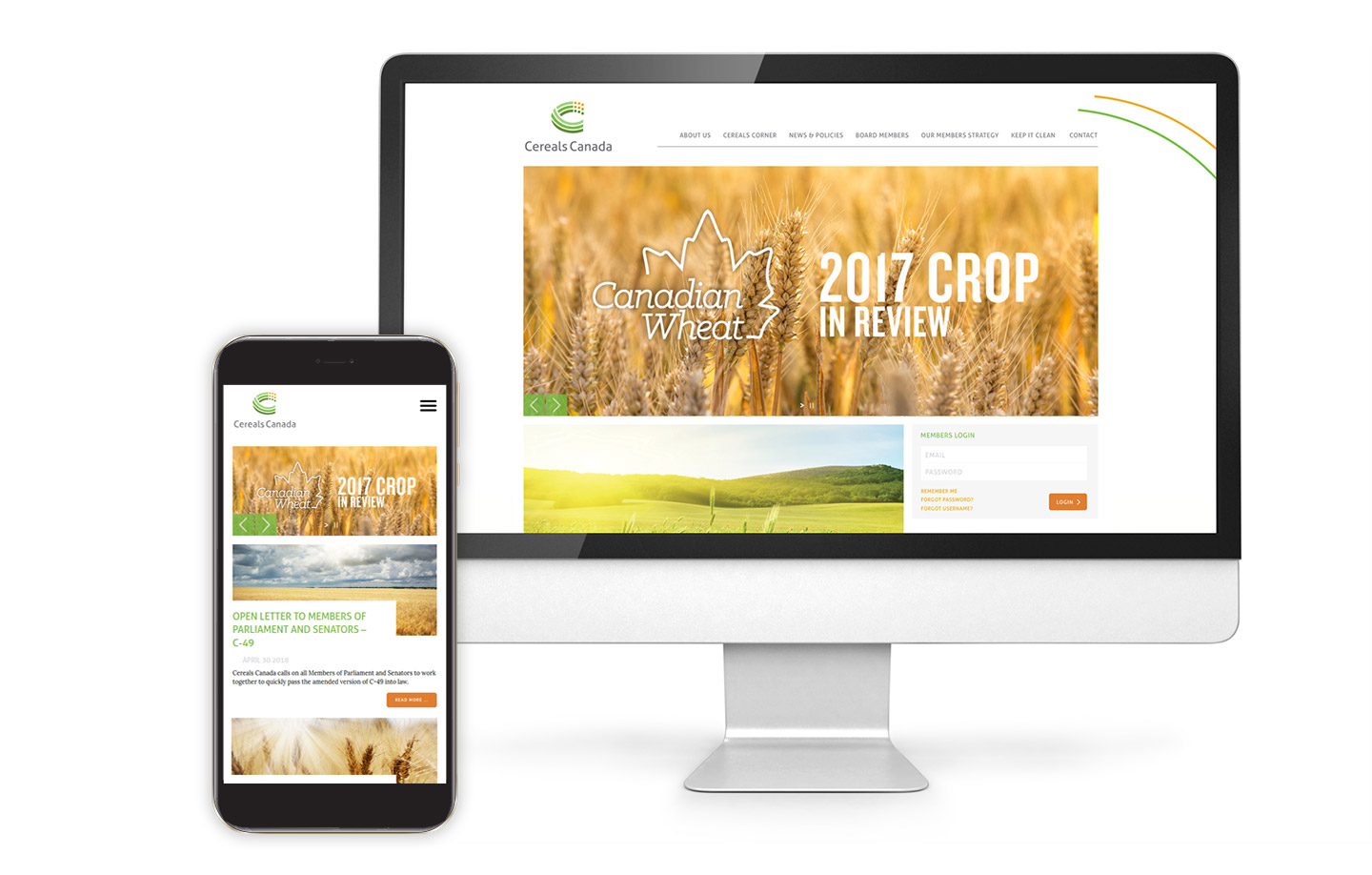 Cereals Web properties